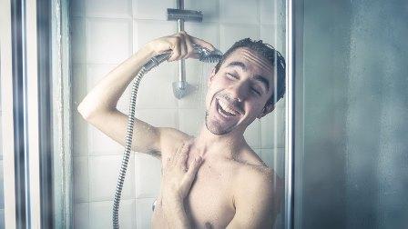 Man Singing In Shower Pretty Sure He's Multitasking