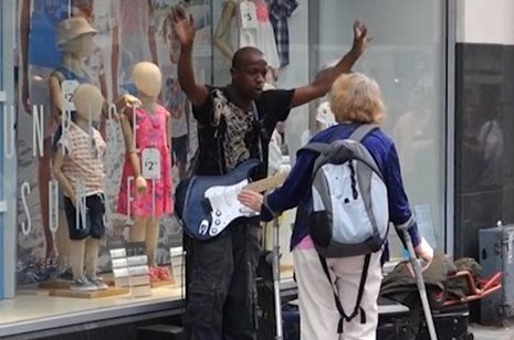 """There's No Such Thing,"" Woman Shouts At Busker Singing 'Innocent Man'"