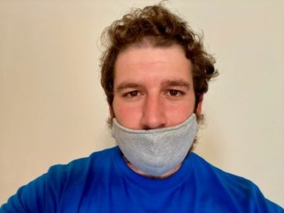 Man Wearing Mask Under Nose Blames Students For Spread Of Virus
